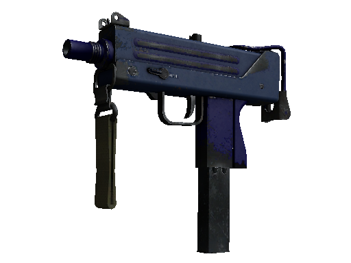 MAC-10 | 紫青之色 (破损不堪)MAC-10 | Indigo (Well-Worn)