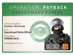 """""""回赠大行动""""通行证Operation Payback Pass"""
