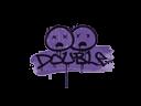 封装的涂鸦   双杀 (暗紫)Sealed Graffiti   Double (Monster Purple)