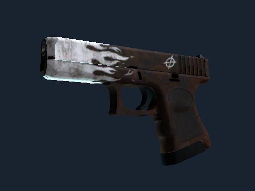 格洛克 18 型(StatTrak™) | 锈蚀烈焰 (略有磨损)StatTrak™ Glock-18 | Oxide Blaze (Minimal Wear)