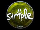 印花 | s1mple(閃亮)| 2019年卡托維茲錦標賽Sticker | s1mple (Foil) | Katowice 2019