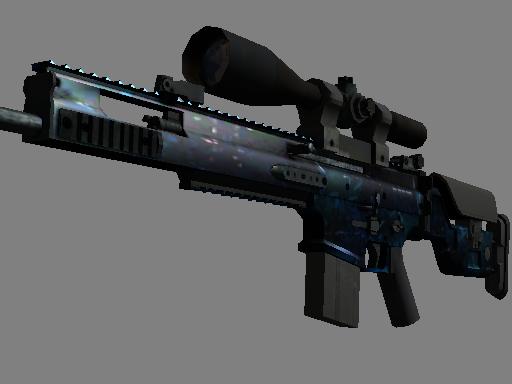 SCAR-20(StatTrak™)   蓝洞 (崭新出厂)StatTrak™ SCAR-20   Grotto (Factory New)