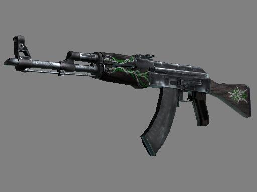 AK-47 | 翡翠细条纹 (略有磨损)AK-47 | Emerald Pinstripe (Minimal Wear)