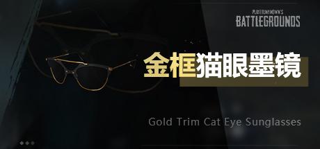 PUBG金框貓眼墨鏡