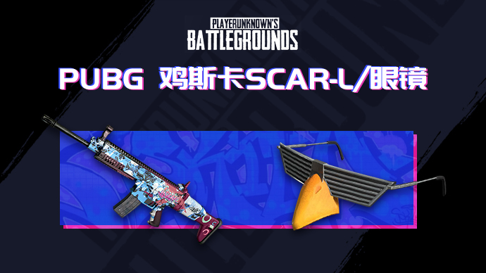 PUBG 鸡斯卡SCAR-L/眼镜游戏截图1