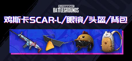 PUBG 鸡斯卡SCAR-L/眼镜/头盔/背包