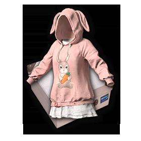 PUBG粉色兔子套装-套装