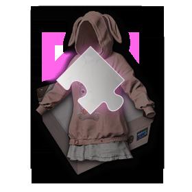 PUBG粉色兔子套装-套装-碎片